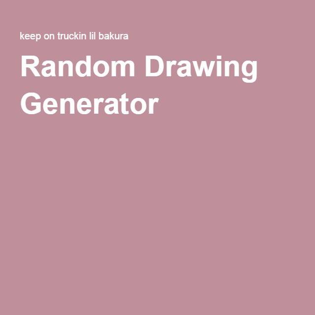 Random Drawing Generator