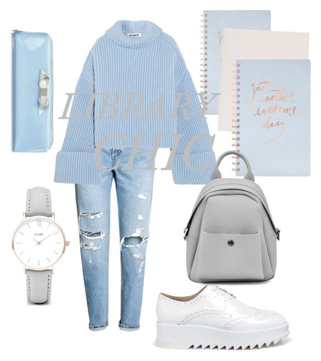 """""""Library Chic"""" by emmamashilo on Polyvore featuring H&M, Jil Sander, Pedder Red, CLUSE, Fringe and Smythson"""