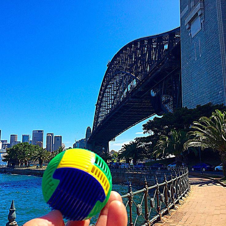 Slida enjoying Sydney's sparkling harbour #sydney #harbourbridge #slida3dpuzzle #sunshine