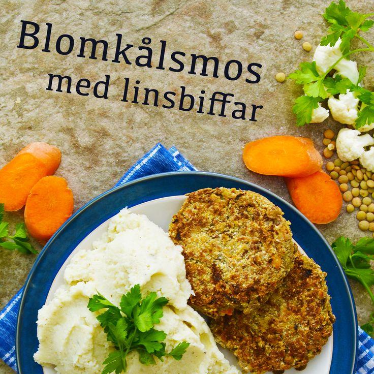 Blomkålsmos med linsbiffar! En av våra favoriter just nu! Receptet finns i meny 24. 😊💚  www.allaater.se