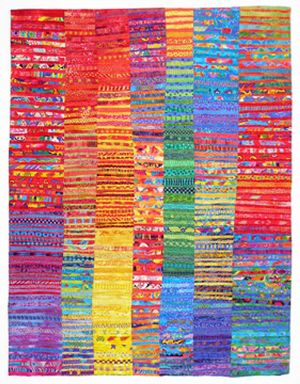 Susan Rienzo, Fiber Artist  What a fun way to use (almost) every fabric in one's stash, ESPECIALLY if one has difficulty using the pretty fabric in one's stash