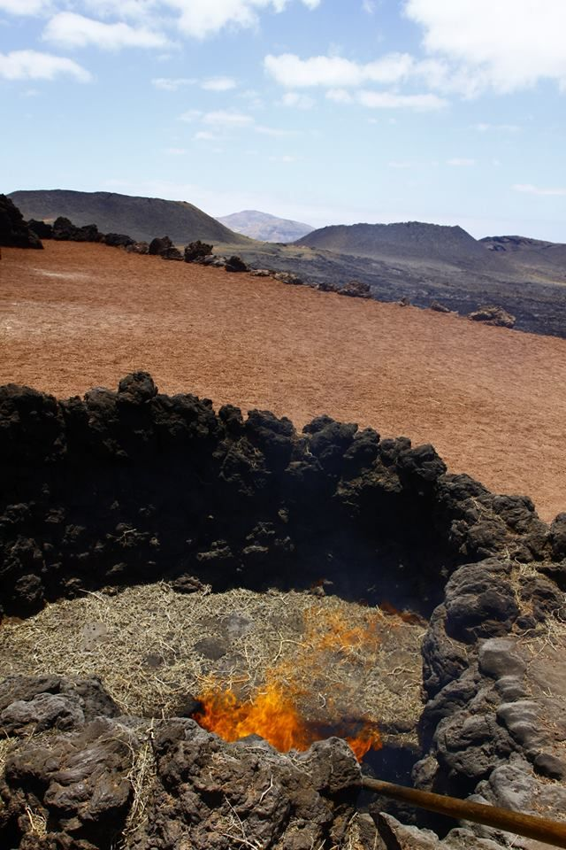 Making fire in this landscape, Lanzarote Cycling