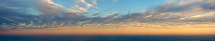 Sunset clouds. Plettenberg Bay. South Africa.