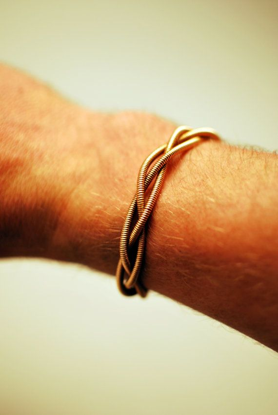 Bass Guitar String Bracelet Cuff by dremeWORKS on Etsy, $25.00
