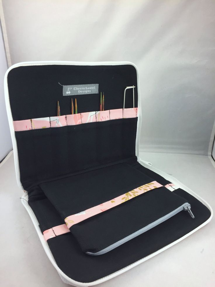 Interchangeable Knitting Needle Holder - Metallic Unicorn Forest by CherryLaurelDesigns on Etsy