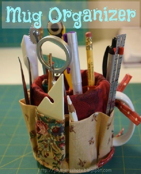 Creative Mug DIY Organizer   AllFreeSewing.com