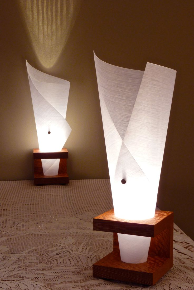 Narcis X table lamp (waterfall paper). $175.00, via Etsy. Y table lamp in  background | wooden lamps! | Pinterest | Etsy, Lights and Lamp light