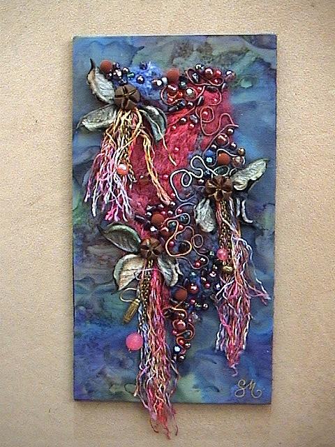 Pot Pourri    Tableau Broderie Art Textile  Pour plus d'infos visitez mon blog  www.sophie-michel.over-blog.com