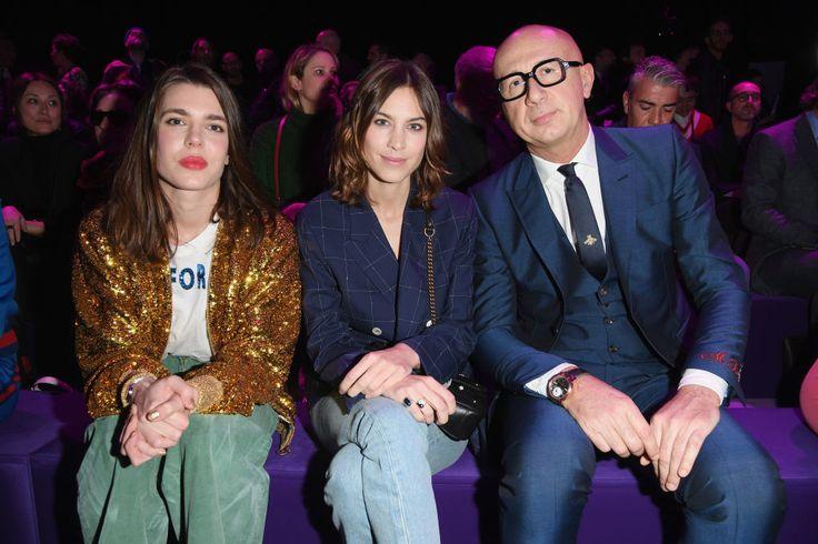 Charlotte Casiraghi, Alexa Chung e Marco Bizzarri da Gucci