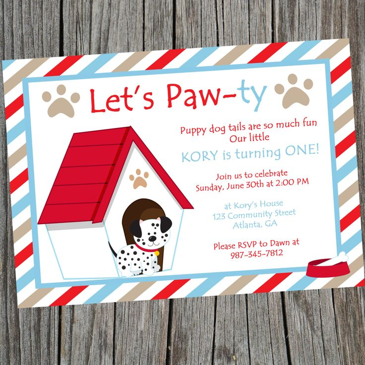 get 20+ dog birthday parties ideas on pinterest without signing up, Birthday invitations