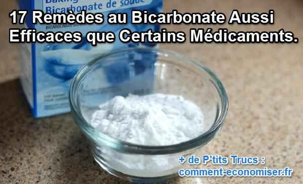 le bicabonate remplace des médicaments