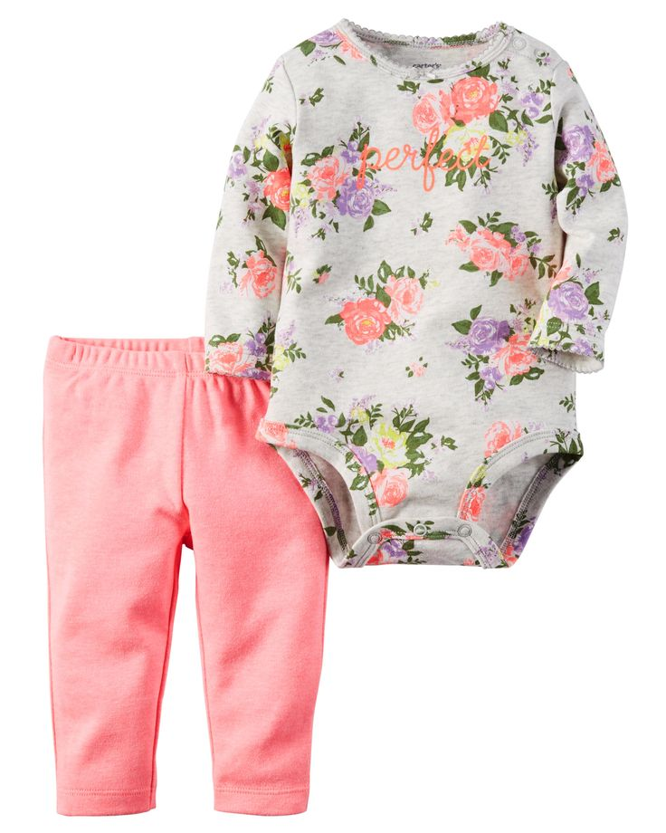 Baby Girl 2-Piece Bodysuit & Neon Pant Set | Carters.com