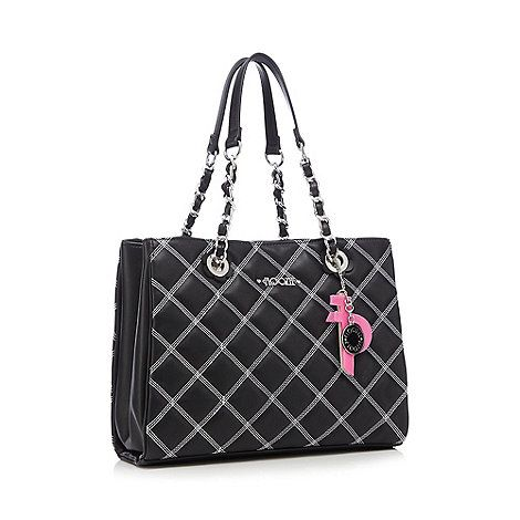 Floozie by Frost French Black quilted chain handle tote bag | Debenhams