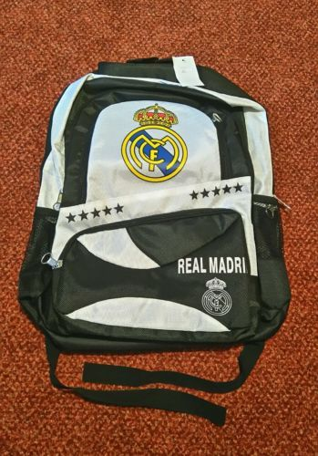 New real #madrid #sport #backpack, black and white ,  View more on the LINK: 	http://www.zeppy.io/product/gb/2/332011113041/