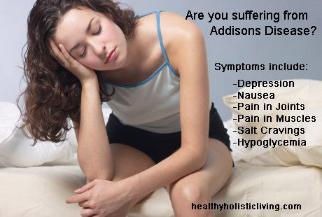 Addisons disease - Learn more about symptoms and convential as well as alternative treatment for this disorder.