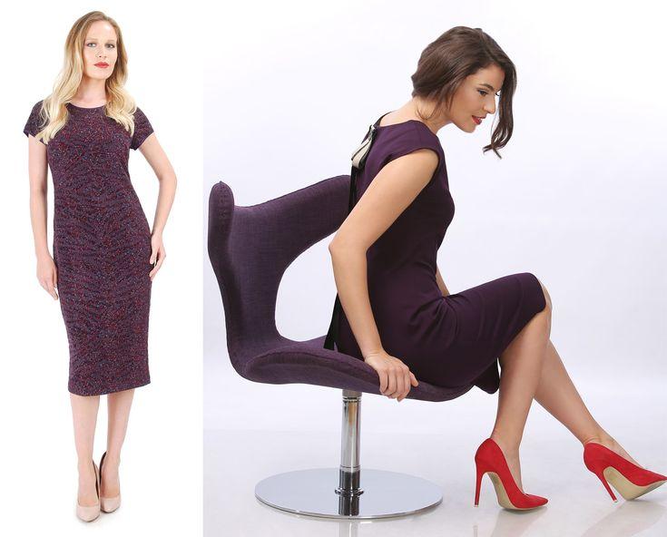Violet, trendy colour this autumn! YOKKO |FALL16 #dress #violet #beautiful #women #fashion #yokko