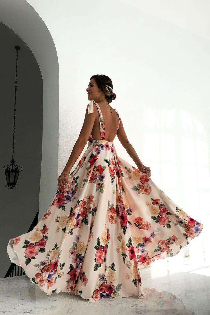 Blumenkleid in 12 (mit Bildern)  Sommer kleider, Abschlussball