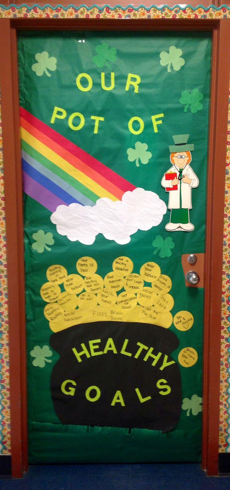 Rock Prairie Elementary School Nurse's door designed by Erin Wettergren Texas A&M Health Intern and Nurse Jill Lovell, LVN, LMT!
