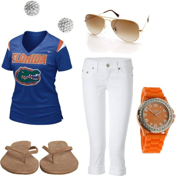florida gators :) not a florida fan but I like the color scheme of the outfit