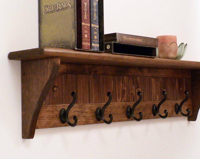 Etsy Acheter Vendre Et Vivre Handmade Entryway Coat Rack Rustic Coat Rack Coat Rack Shelf
