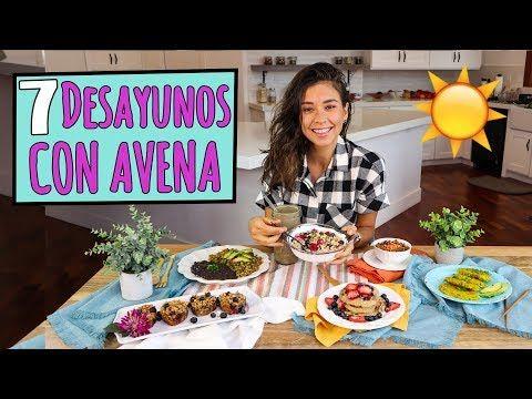 7 DESAYUNOS PARA LA SEMANA con Avena☀️ Vegano y Fácil! - YouTube