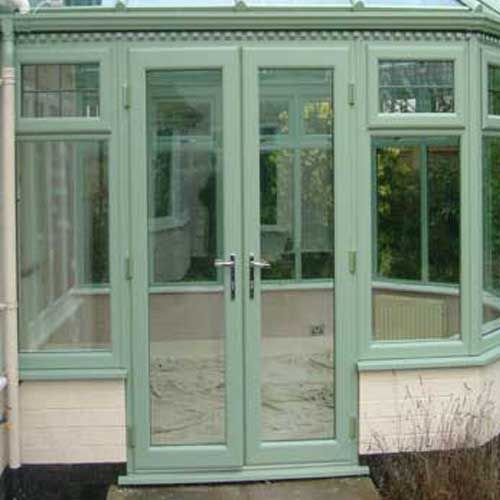 French PVCu Doors - A nice French Green...