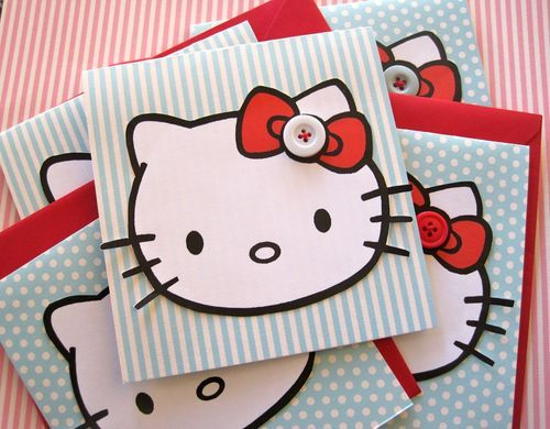 Lovely hello kitty invitations-cute for a birthday