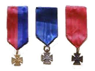 Er waren drie Jan van Hoofkruizen die werden uitgereikt voor een moedige daad. 'Voor moed' stond erop. Het bronzen kruis was het hoogste en werd uitgereikt voor een daad van bijzondere moed met groot levensgevaar. Het kruis hing aan een rood lint. Het zilveren voor het tonen van moed en het trotseren van levensgevaar. Het kruis hing aan een blauw lint. Het gouden voor getoonde moed zonder dat er sprake was van direct levensgevaar. het kruis hing aan een rood-blauw lint.