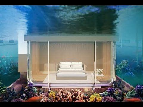 The Floating Seahorse Villas Dubai with Underwater Bedrooms and a Glass-...