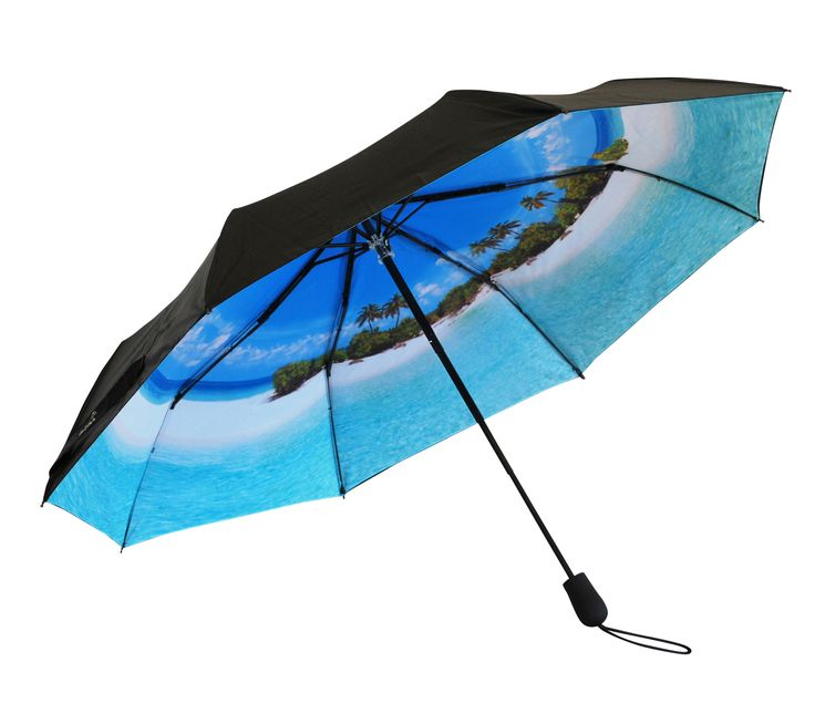 'Life's a Beach' Folding Umbrella | Where I'd Rather Be | http://www.whereidratherbe.co.uk/products/lifes-a-beach-folding-umbrella