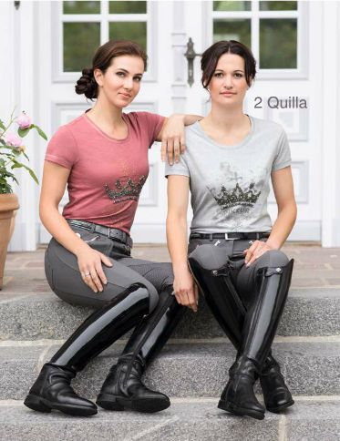 Patent leather riding boots breeches