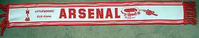 Rare football arsenal #league cup final 1987  v #liverpool #scarf,  View more on the LINK: 	http://www.zeppy.io/product/gb/2/351918001807/