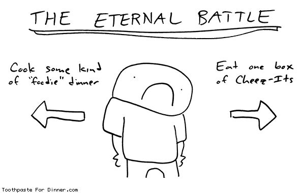 Comic by Toothpaste For Dinner: the eternal battle