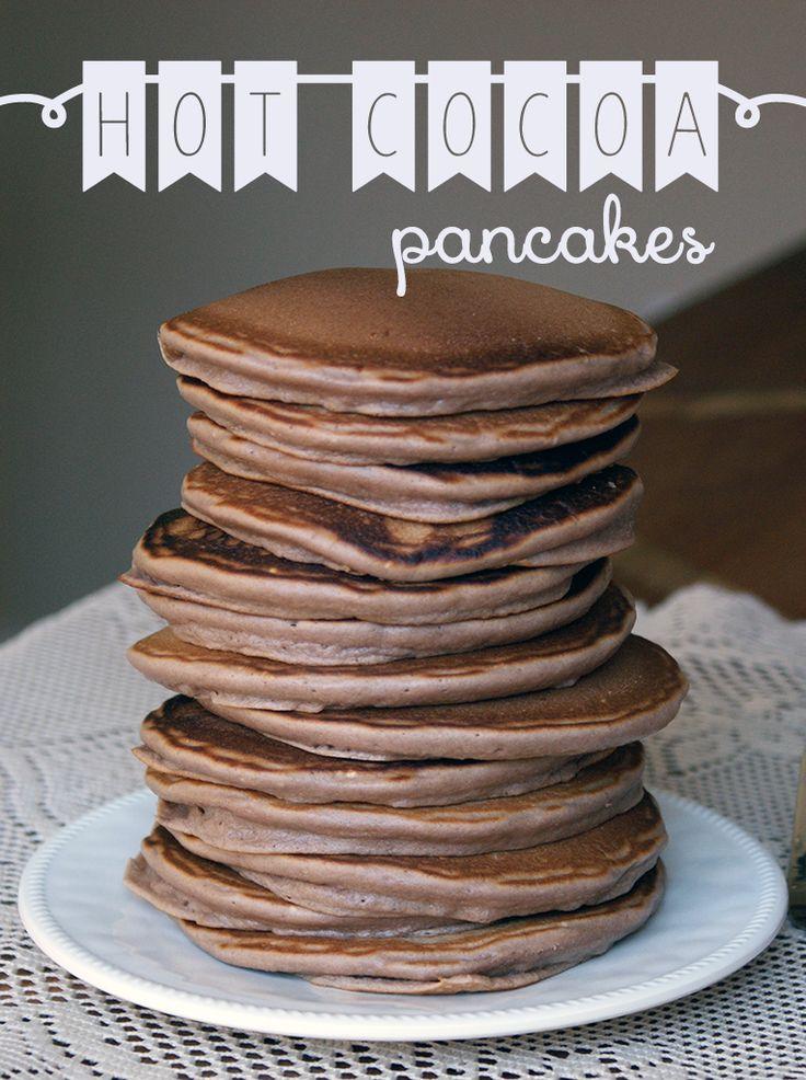 Recipe for Hot Cocoa Pancakes- using Chupon Chocolate shavings ! http://www.chuponchocolate.com/