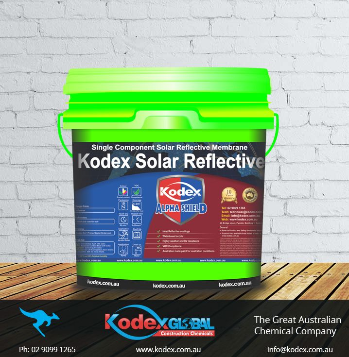 Now keep your room temperature cooler by applying Kodex Solar Reflective Coating which also protects your building by waterproofing it enhancing the life structure of your foundations. This coating is Water based 100% acrylic, UV stable and weather resistant, Protects concrete against damage by carbon dioxide, water and chlorides. Find out more: http://www.kodex.com.au/wp-content/uploads/2015/02/Kodex-Solar-Reflective-D.pdf