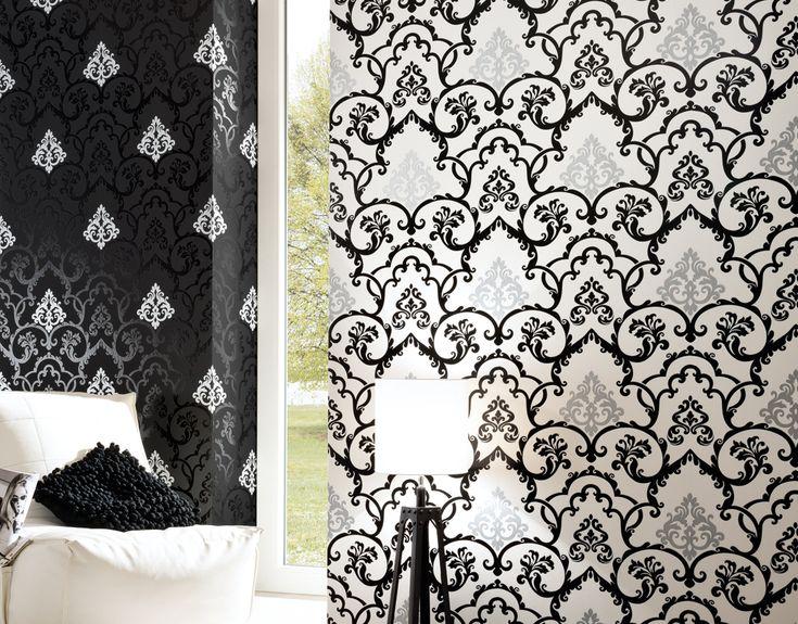 El papel pintado en blanco y negro siempre es elegante