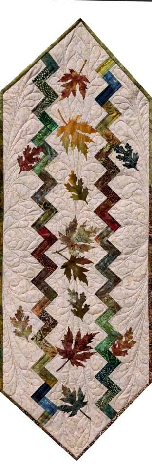 Landscaped Chevron Table Runner ~ The Forest Floor, Quiltworx.com, Made by Quiltworx.com