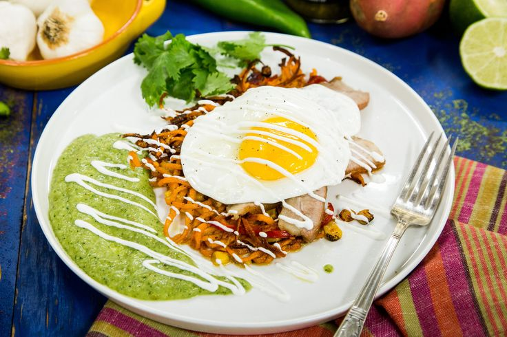 Looking for dinenr tonight?  Try Chef Eric Greenspan's Tender Pork Belly & Sweet Potato Hash! Tune in to Home & Family weekdays at 10a/9c on Hallmark Channel!