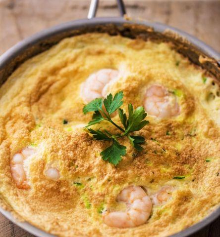 Omelet med rejer (207 kalorier)