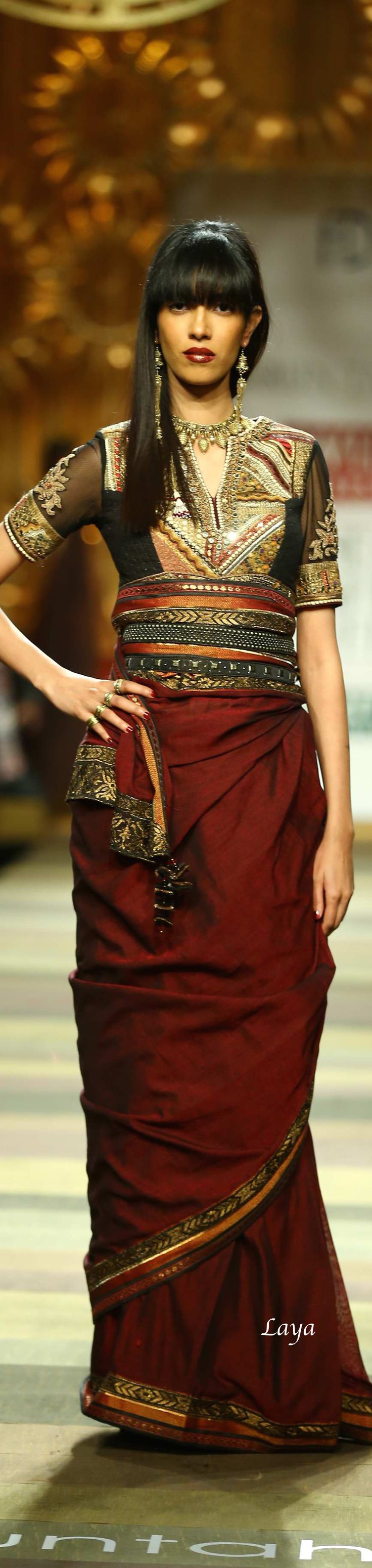 Tarun Tahiliani Fall/Winter 2014-15❋Laya