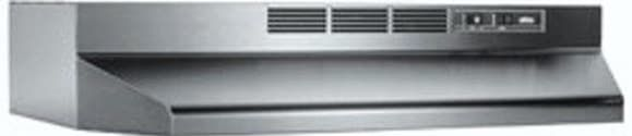 Broan 413604 36 Inch Under Cabinet Range Hood with 2-Speed Controls and Recirculating Ventilation: Stainless Steel