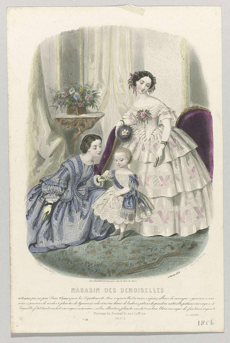 Magasin des Demoiselles, 25 février 1856, 12 année, J. Desjardins, Delamain, Sarazin, 1856