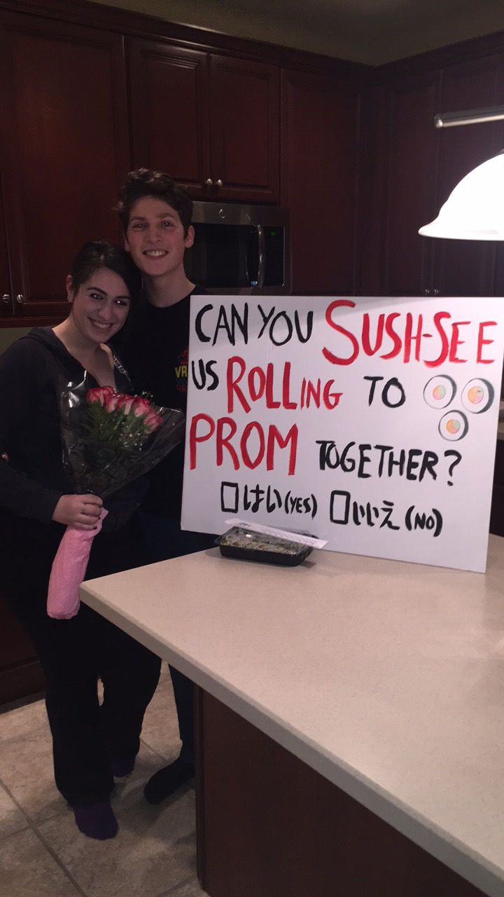 Cute sushi promposal #prom #promposal #sushi #cutepromposal #original