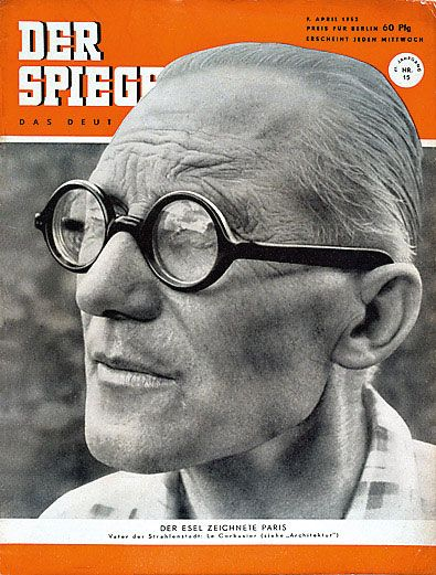 Le Corbusier - the founder of modernism in general and one of the main architects of the twentieth century.  Cover of the magazine Der Spiegel (1952)