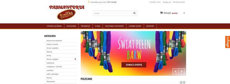 Realizacja sklepu internetowego dla Pasmanterii Szpilka