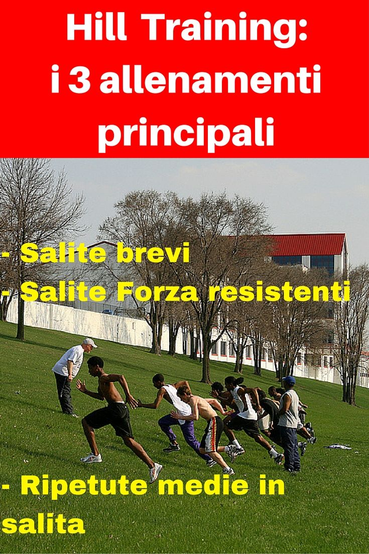 Analisi e spiegazione dei 3 allenamenti principali con salite: le Salite Brevi, le Salite Forza Resistenti e le Ripetute Medie in Salita.