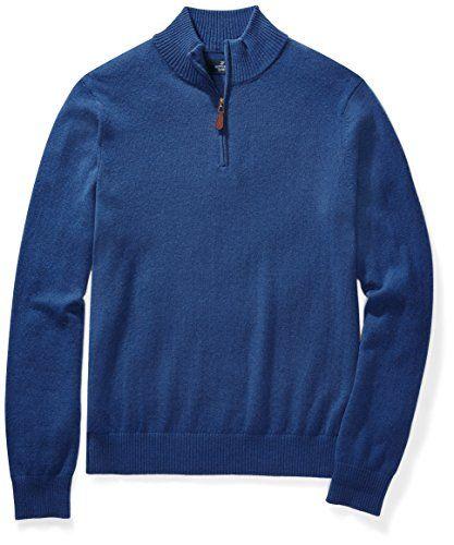 be24844adbd00e Shop online Amazon Brand - BUTTONED DOWN Men's Cashmere Quarter-Zip Sweater.  Explore our