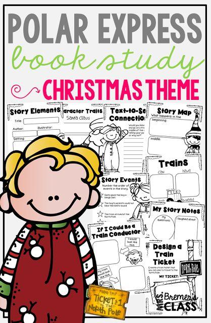 Polar Express book study companion activities for Kindergarten-Second Grade