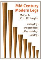 Extensive collection of Mid Century Modern and Danish Modern Legs