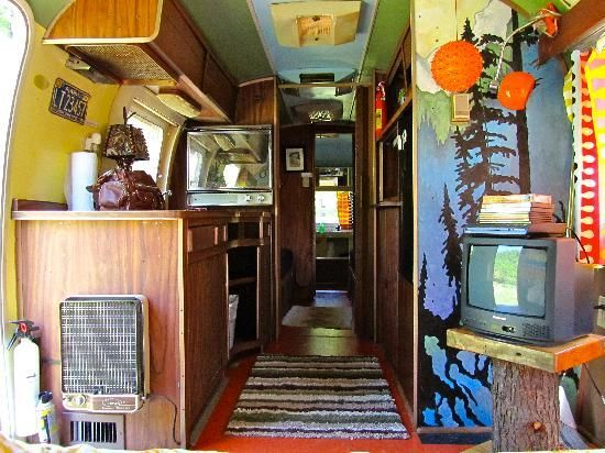 Kate's Lazy Meadow Hotel, Airstream interior - galley.